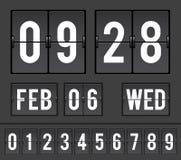 模式读秒轻碰定时器 免版税库存图片