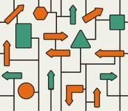 模式路标 免版税库存照片