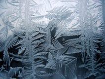 模式雪视窗冬天 库存照片