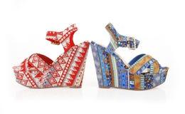 模式鞋子楔子 库存图片