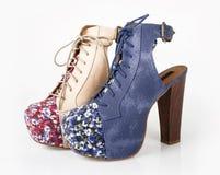 模式鞋子 免版税库存图片