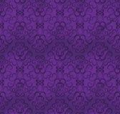 模式紫色无缝的树荫墙纸 免版税库存照片