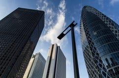 模式Gakuen在Shinjuku的茧塔,东京 免版税库存照片