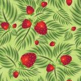 模式semless草莓 免版税图库摄影