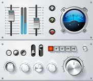 模拟控制要素连接集合向量 库存图片