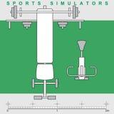 模拟程序体育运动符号 免版税库存图片