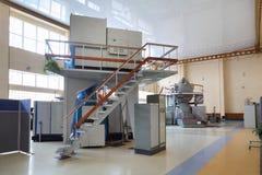 模拟程序在宇航员培训中心 库存照片