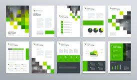 模板与封页的布局设计公司概况的,年终报告,小册子,飞行物,介绍 库存例证