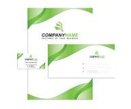 模板与徽标的企业身分 免版税库存照片
