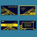 模板为事务交换事务事务卡片现代设计 皇族释放例证