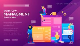 模板为网络购物、逻辑分析方法、数字行销、配合和经营战略设计 流动网站 向量例证
