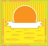 模板传染媒介说乳酪海报 库存图片