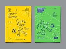 模板体育布局设计,平的设计,个别线路,图表 图库摄影