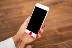 模板和大模型手机的app设计 免版税库存照片