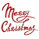 模板圣诞卡 库存图片