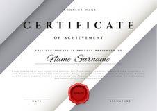模板在银色颜色的证明设计 免版税库存照片