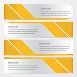 模板横幅集合黄色颜色 皇族释放例证