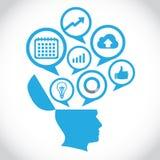 模板现代信息图形设计 免版税库存照片