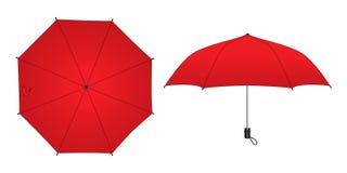 模板的红色Unbrella设计 皇族释放例证