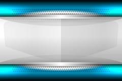 模板蓝色背景 免版税库存图片