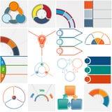 模板16个Infographics循环过程三个位置 免版税库存照片
