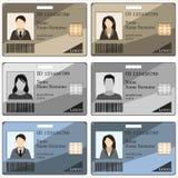 模板id卡片 库存例证