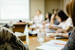 模糊企业会议 免版税库存图片