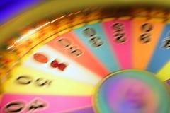 模糊的五颜六色的赌博的焕发轮盘赌 库存图片