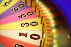 模糊的五颜六色的赌博的焕发轮盘赌 免版税库存图片