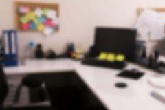 模糊的办公桌 免版税库存照片