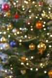 模糊的圣诞树 免版税库存照片