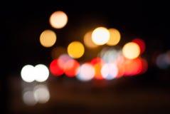 模糊的夜交通 库存照片