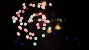 模糊的庆祝和烟花爆炸背景 影视素材