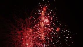 模糊的庆祝和烟花爆炸背景 股票视频