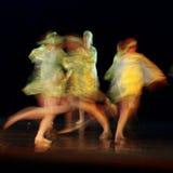 模糊的舞蹈家 免版税库存照片
