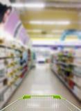 模糊的超级市场 免版税库存照片