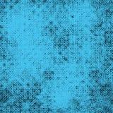 模仿纺织品纹理的抽象几何蓝色无缝的样式 图库摄影