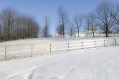 横向俄亥俄冬天 免版税库存图片
