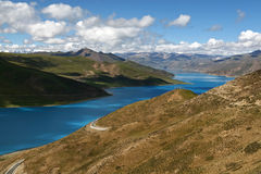 横向典型的西藏 库存照片