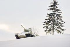横向军人冬天 图库摄影