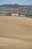 横向农村toscana 库存照片