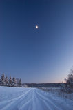 横向冬天 免版税库存照片