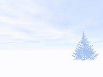 横向冬天 皇族释放例证