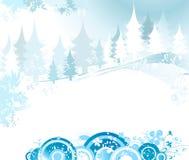 横向冬天 库存例证