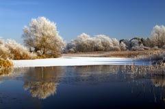 横向冬天 库存图片