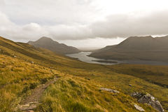 横向北部农村苏格兰 库存照片