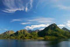 横向北部挪威 免版税库存照片
