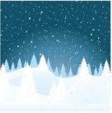 横向向量冬天 免版税库存图片