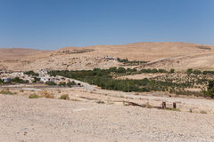 横向在乔丹,中东。 免版税库存照片