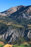 横向在阿尔卑斯 免版税图库摄影